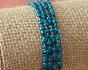 Set of 4 seed bead bangles