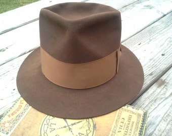Vintage Mallory 1940s  hat fedora men's size 7
