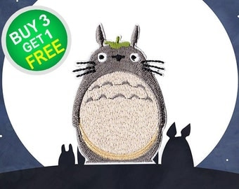 Totoro Patches My Neighbor Patches Patch Iron On Patch Appliques Embroidered Patches