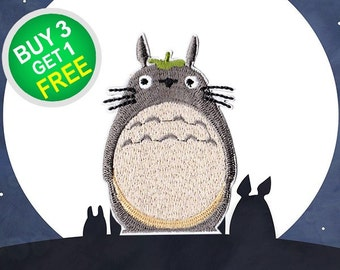 Totoro Patches My Neighbor Patches Iron On Patch Embroidery Patches Sew On Patch Cute Patches