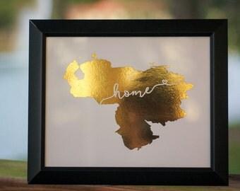 "Venezuela Map ""Home"""
