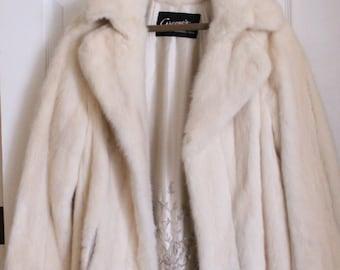 Vintage Women's White Mink Fur Coat