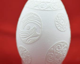 Pysanky - handmade goose egg - Easter egg in an old etching technology made by Tetyana Bastick