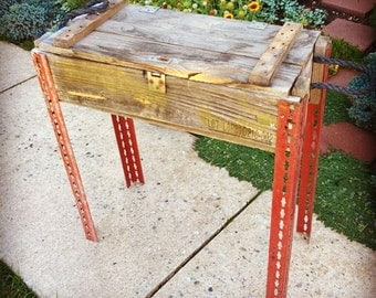 Ammo box table for your porch, deck or inside your house!