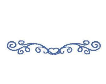 Border Monogram Scroll Machine Embroidery Design Pattern File - Fits 4x4 Hoop - MULTIPLE FORMATS- Instant Download