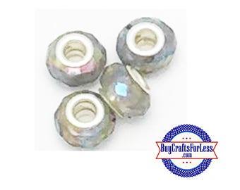 CLEARANCE - Acrylic BEADs, SMOKE, 12 pcs  +FREE Shipping & Discounts*