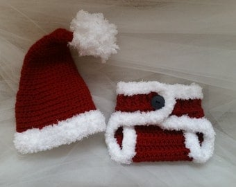 Baby Santa Outfit - Newborn Photo Prop
