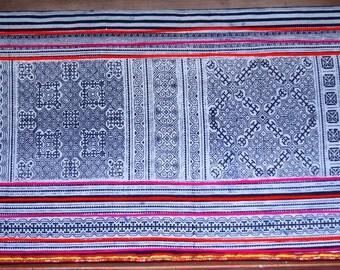 Hmong series 3: table runner, cotton batik Hmong