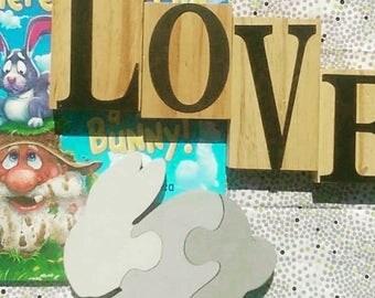 Bunny Shelfie Puzzle, Bunny, Puzzle, Bunny puzzle, Baby puzzle, Baby puzzles, Nursery Decor, Wooden toys, Montessori toys, Educational toys