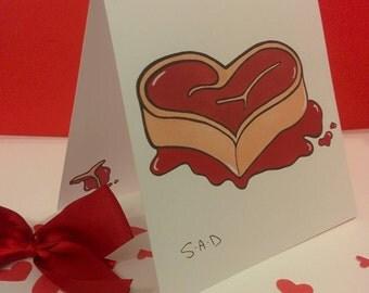I love you more than steak card