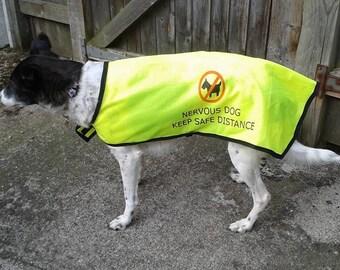 "printed ""nervous dog"" high visibility jacket"
