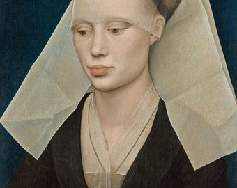 Rogier van der Weyden : Portrait of a Lady (1460) Canvas Gallery Wrapped Wall Art Print