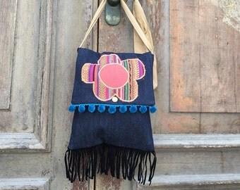Ladies hand bag, groovy messenger bag, sling Bag, cross body bag Summer shoulder bag, ladies purse, ladies handbag Boho hippie fashion style