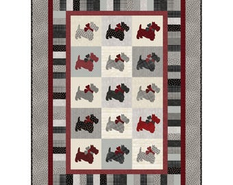 """NEW! - Remembering Katie Quilt Kit - 50"""" x 68"""" - Woolies Flannel - By Grace Wilson For Maywood Studio"""