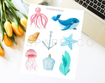 Marine Elements 2 - Bullet Journal Stickers - Planner Stickers - MA002
