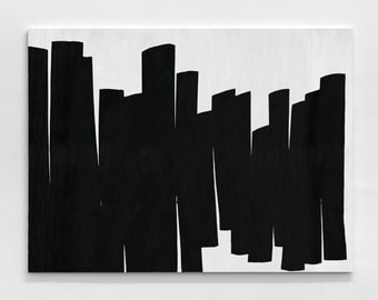 Black And White Painting-oil painting-Abstract Painting-Minimalist Painting-Large Canvas Art- Modern painting-handmade painting