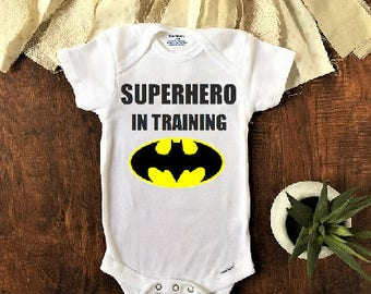 Superhero in training baby onesie®, Batman onesie, Batman Baby Clothes, Batman Baby Girl, Batman Baby Shower, superhero baby clothes, outfit
