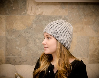 Ribbed Brim Knit Beanie // MADE TO ORDER
