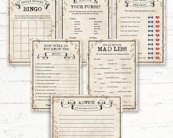 Harry Potter Bridal Shower Games Package - 6 Games - Digital Printout - Instant Download
