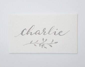 Hand Written Calligraphy Name Place Cards