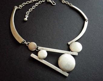 Antique Silver Plated Zamak Necklace | Statement Necklace | Boho Necklace | Silver Bohemian Necklace | Adjustable Necklace