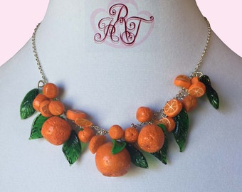 Pinup Oranges Rockabilly Necklace