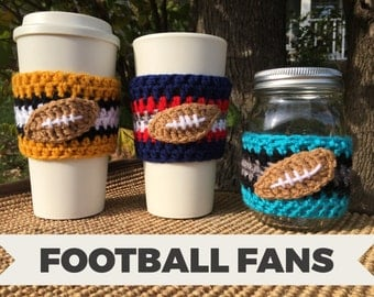Football Fan Cozy/Coffee Cozy/Football/Team/Sports Fan/Coffee Sleeve