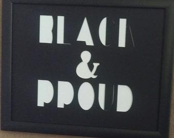 Black & Proud Word Collage