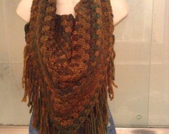 Fringed Triangle scarf