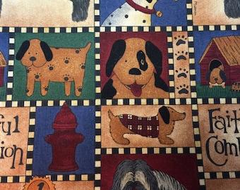 Faithful Dog Fabric in 100 PerCent Cotton