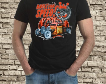 Built for Speed hot rod / rat rod t-shirt