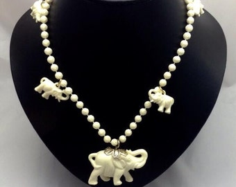1960's Elephant Necklace