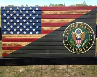 19x36 Army/American flag