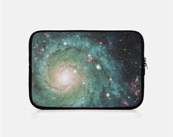 Galaxy iPad Sleeve, Space iPad Sleeve, iPad Mini Sleeve, Green iPad Sleeve, Kindle Sleeve, iPad Mini Cover, iPad Clutch, Tablet Sleeve,