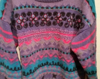 END of WINTER SALE! Ugly tacky floral Aztec printed grandma sweater!