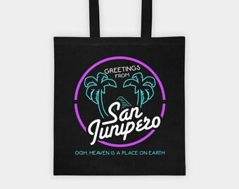 San Junipero Tote Bag   Black Mirror TV Show