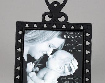 Mother's Day Photo Tile With Wrought Iron Trivet
