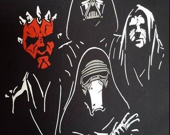 Bohemian Dark Side Adult Hoodies- Queen Star Wars Mashup New Rahpsody Jedi Force