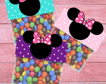 80% OFF SALE Minnie Mouse Bag Toppers Minnie Mouse Goodie Bags Minnie Mouse Treat Bags Minnie Mouse Party Bag Toppers minnie mouse