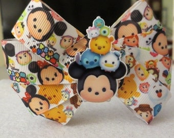 Tsum Tsum bow on a black hard headband