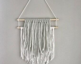 medium wall hanging   yarn wall hanging   nursery decor   boho wall decor