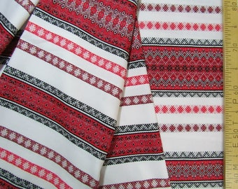 Slavic linen fabric by the yard, boho fabric, russian folk fabric, Vintage Soviet Linen Fabric, Slavic ornament, Eco, russian linen fabric