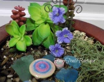 Fairy Garden Trellis ~ Potted Plant Pick ~ Potted Plant Stake Accessory ~ Faerie Garden Accessories ~ Garden Lattice ~ Faerie Miniatures