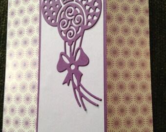 Handmade Birthday Butterfly Window Card