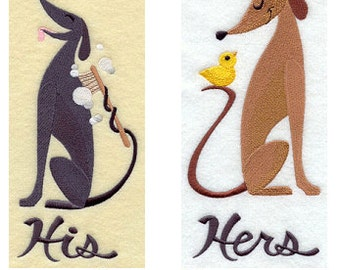 His and Hers Towel Set - Dapper Dogs