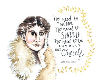 8x10 Virginia Woolf Art Print : That's What She Said series