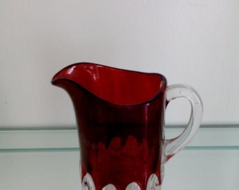 Ruby Stained Glass - Creamer - Arched Ovals