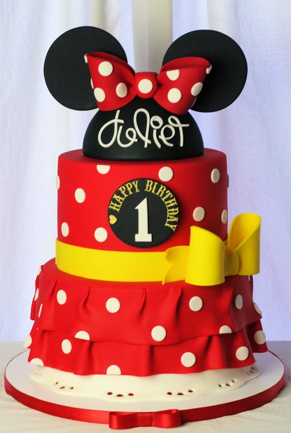 mickey ears wedding cake topper minnie mouse fondant hat amp ears cake topper with happy 17351