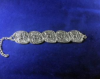 High Quality Handmade Sterling Silver Bracelet Filigree made in Macedonia