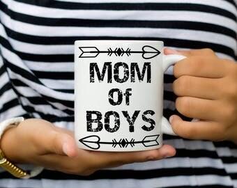 Mom of Boys Mug, Mother's Day Mug, Mom Coffee Mug Gift